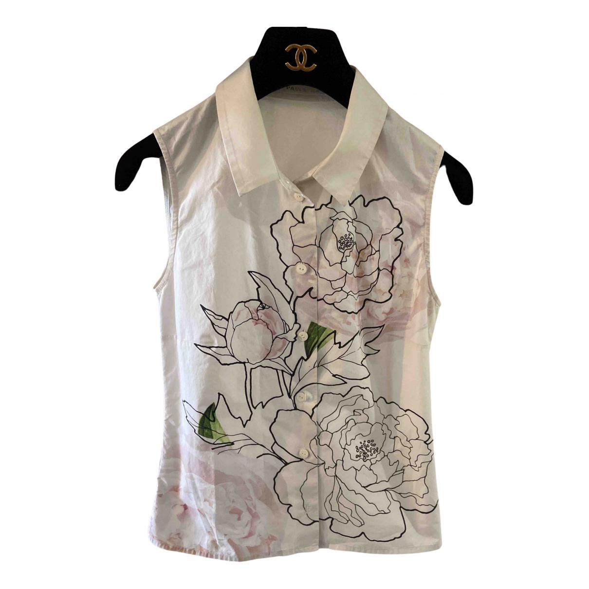 Paule Ka - Top   pour femme en coton - blanc