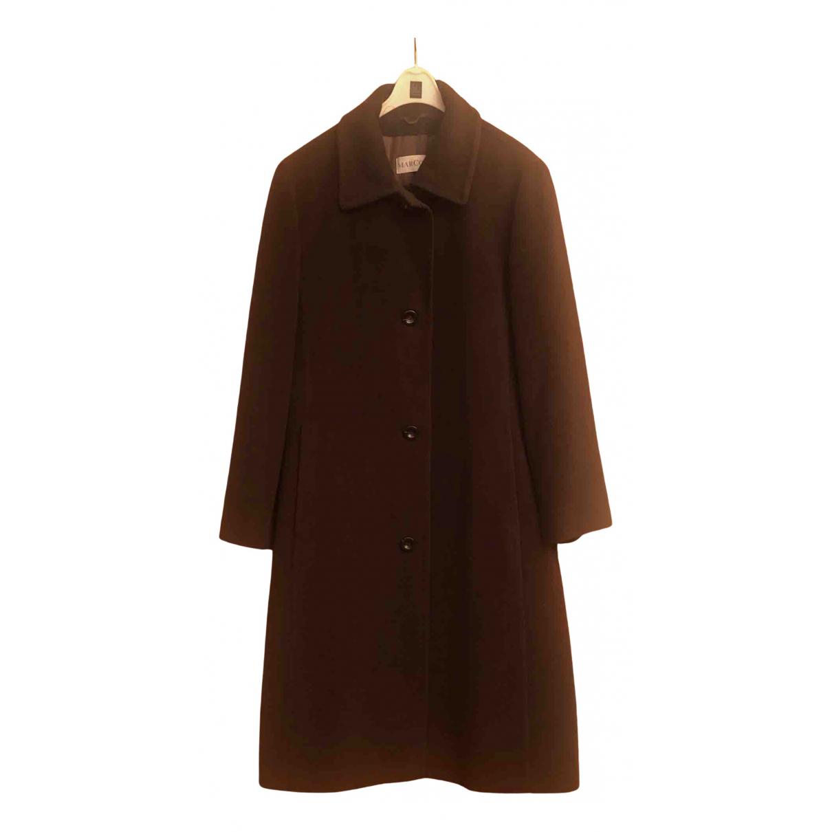 - Manteau   pour femme en laine - marron