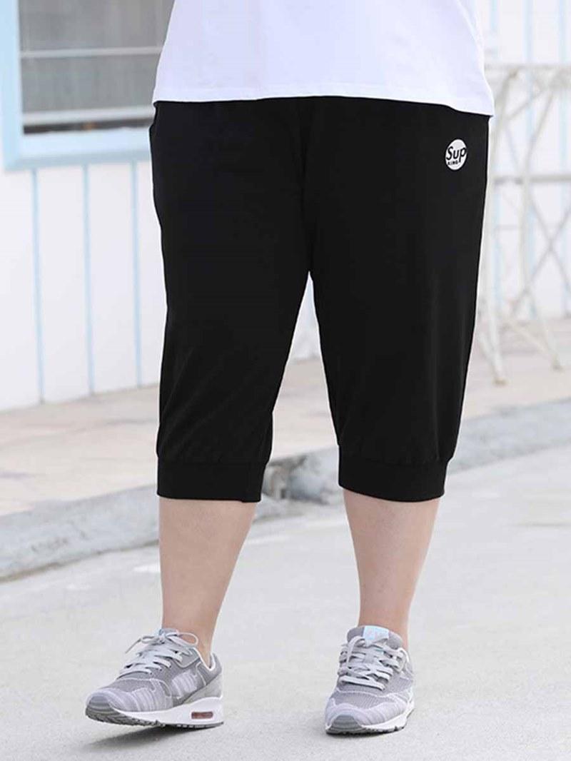 Ericdress Women Plus Size Pockets Letter Mid-Calf Yoga Pants
