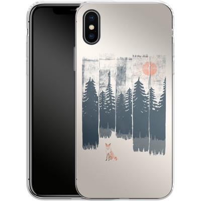 Apple iPhone X Silikon Handyhuelle - Fox in the wild von ND Tank