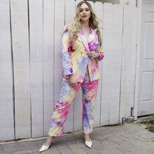 Hose mit Batik Muster und elastischer Taille