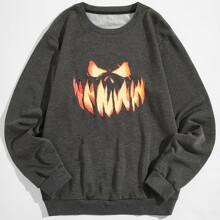 Sweatshirt mit Halloween Muster