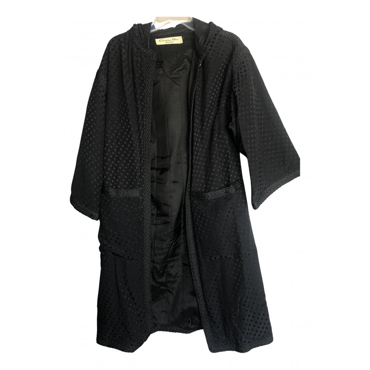 Dior - Manteau   pour femme en soie - noir
