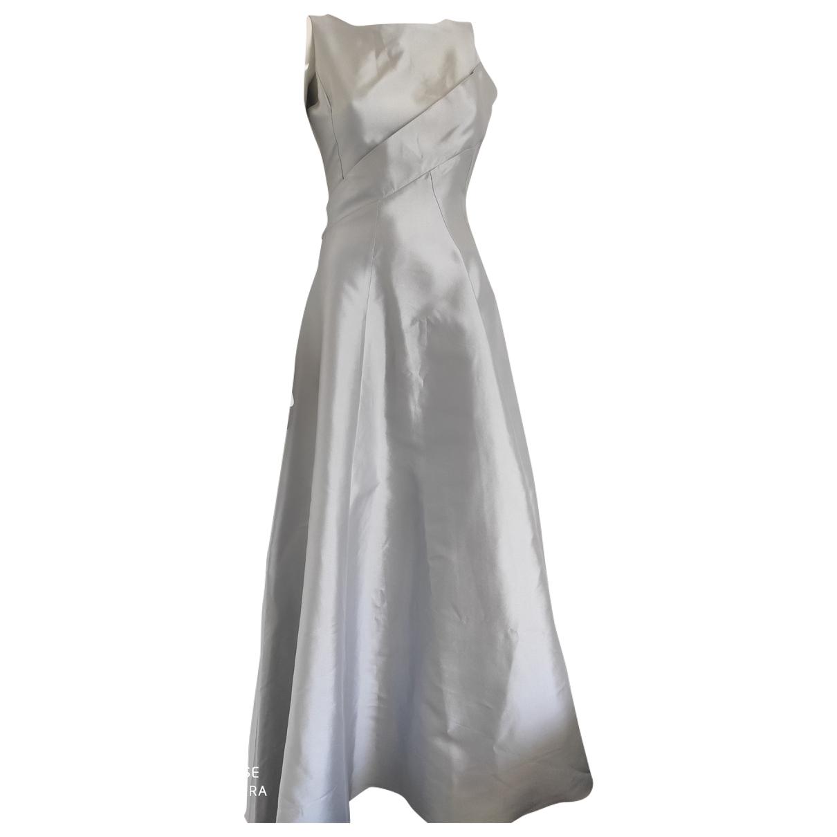 Dior \N Kleid in  Silber Seide