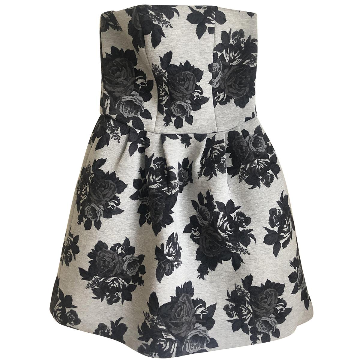 Msgm \N Kleid in  Grau Viskose