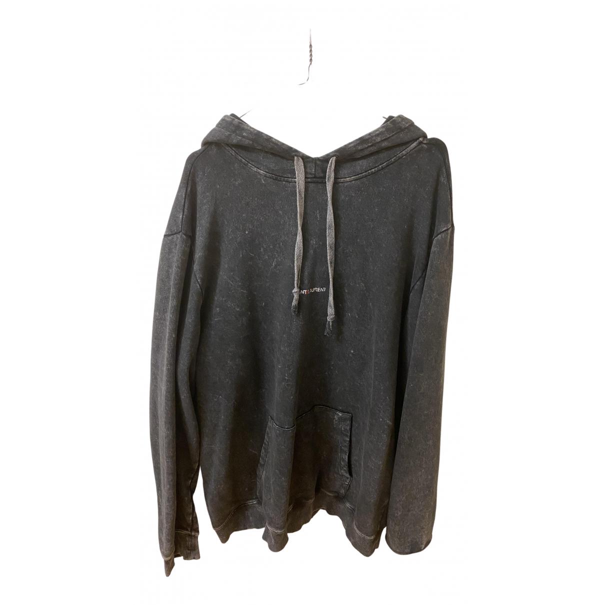 Saint Laurent \N Pullover.Westen.Sweatshirts  in  Anthrazit Baumwolle