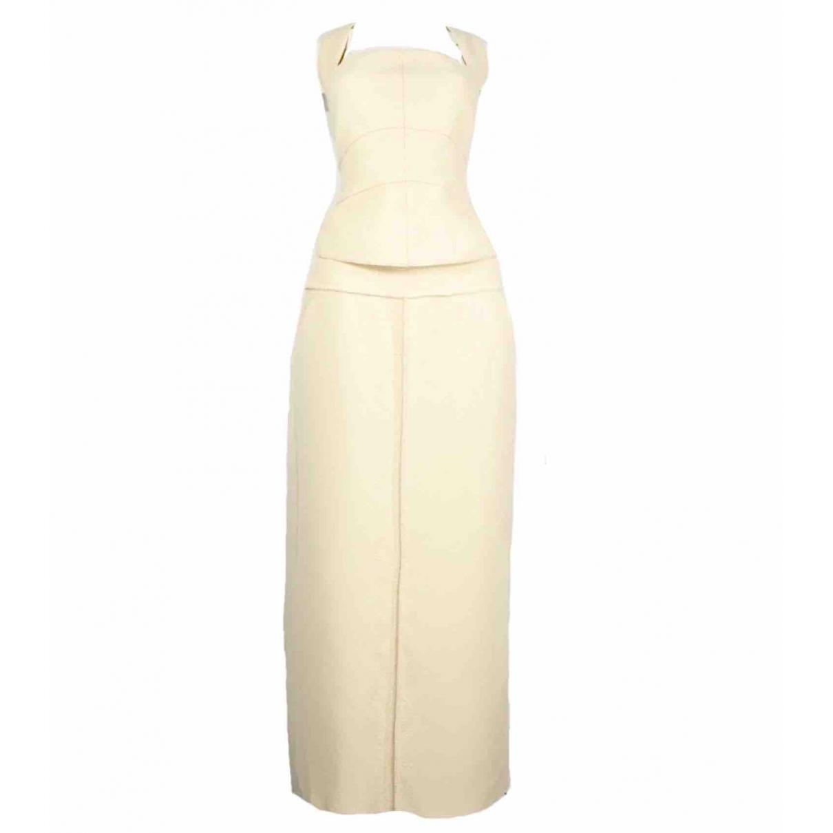 Chanel \N Ecru Wool skirt for Women 42 FR