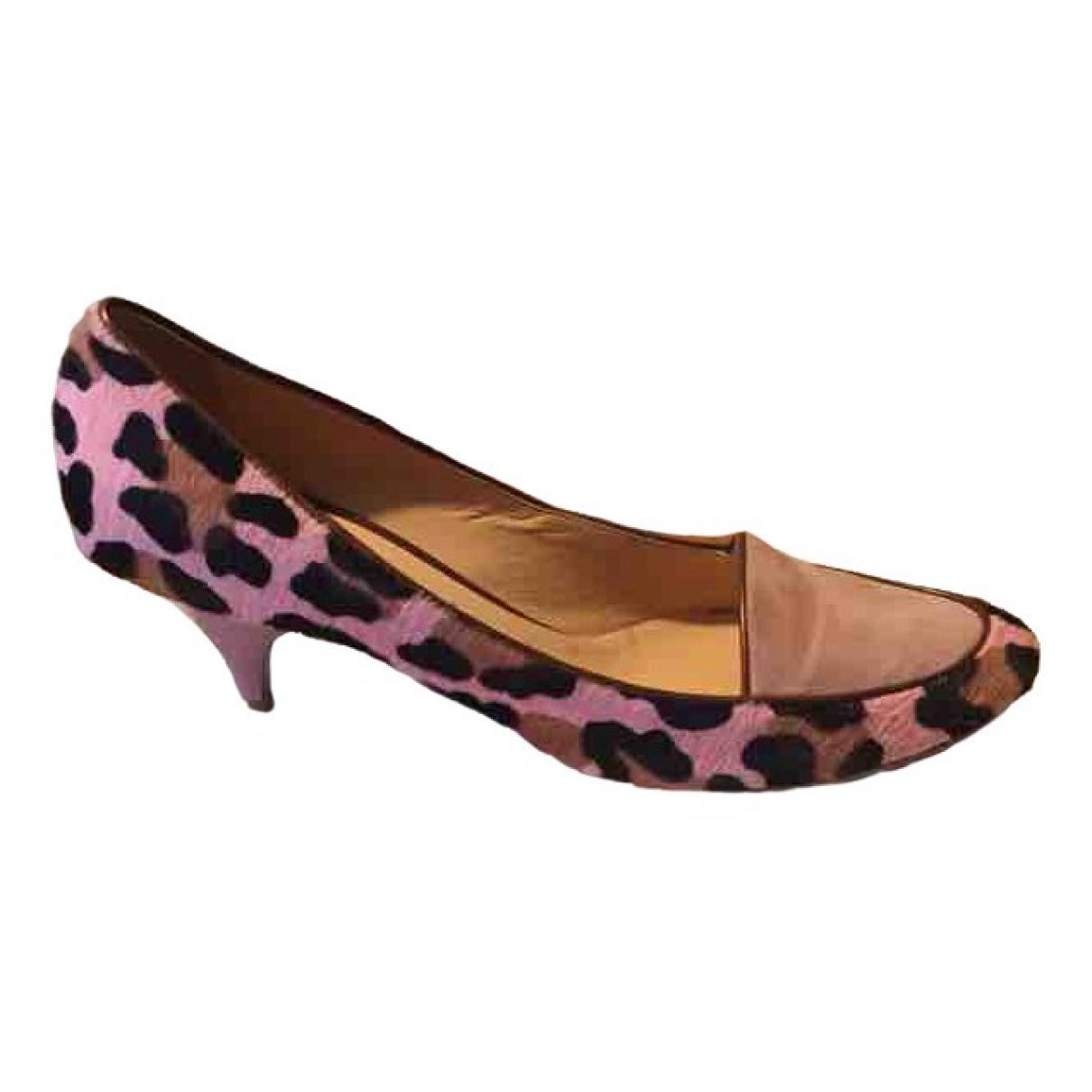 Casadei - Ballerines   pour femme en cuir - rose