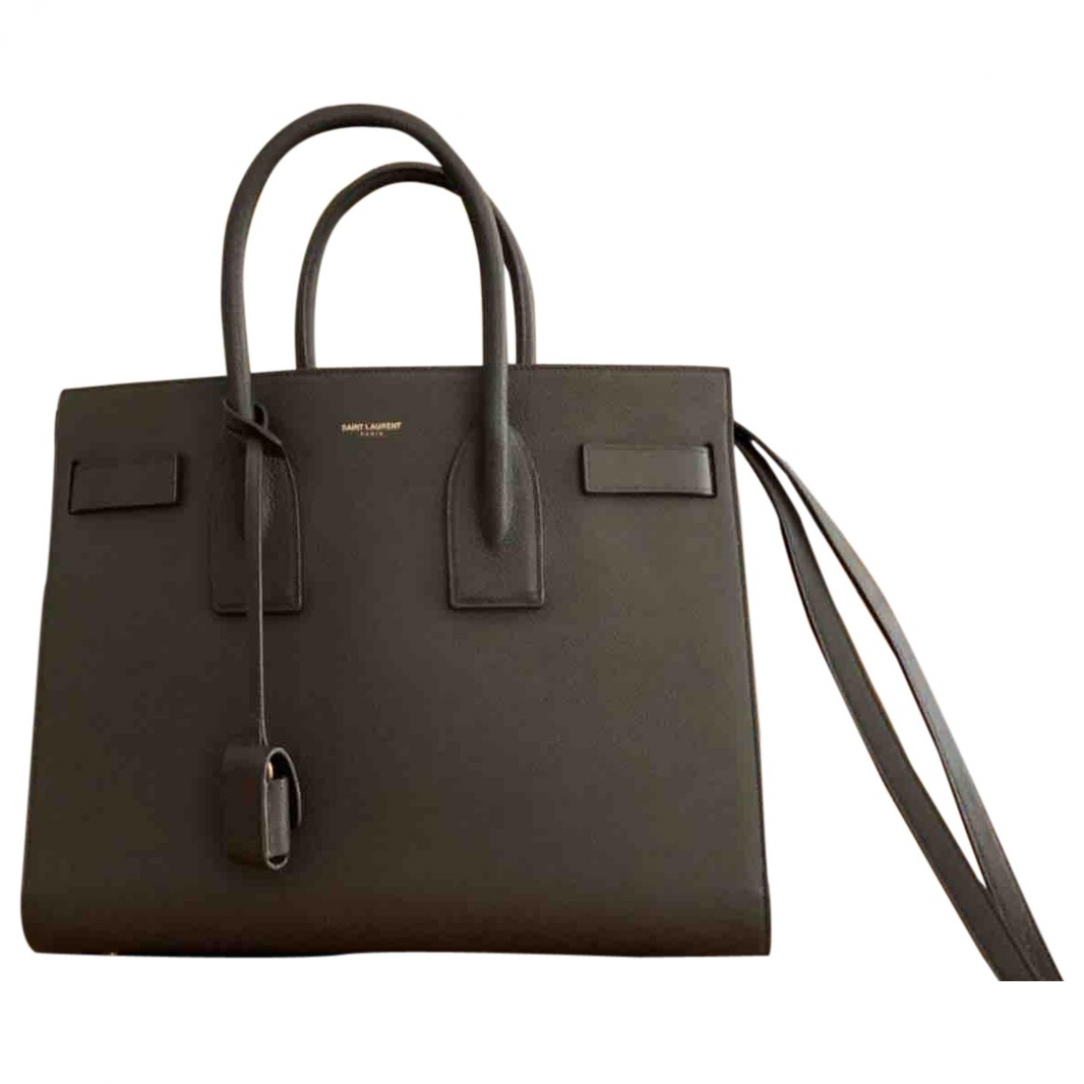Saint Laurent Sac de Jour Khaki Leather handbag for Women \N