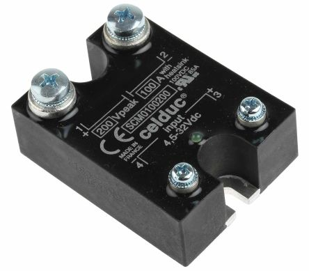 Celduc 100 A Solid State Relay, Panel Mount, MOSFET, 200 V Maximum Load