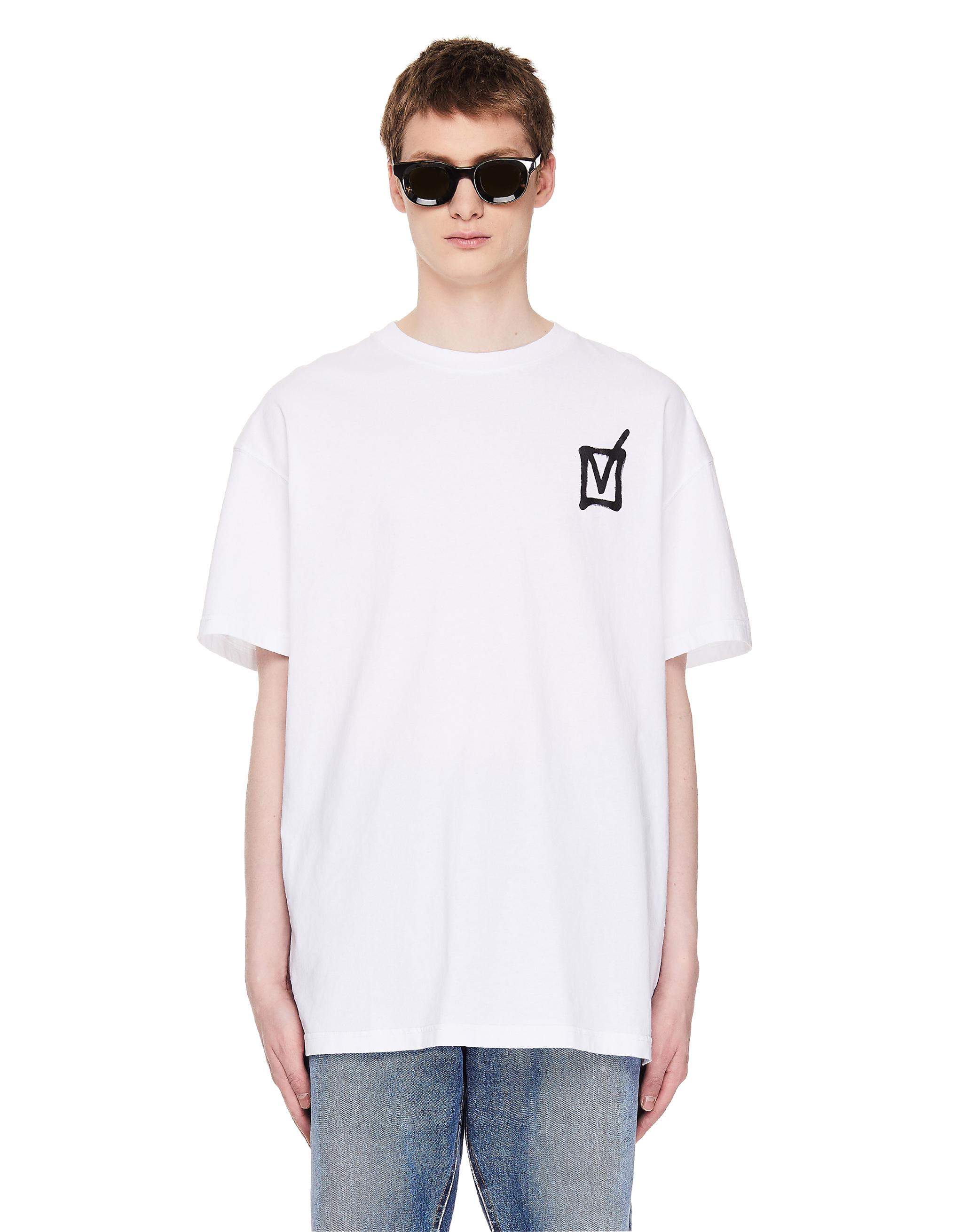 Vetements White Printed T-Shirt