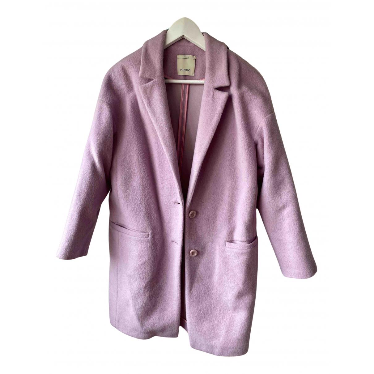Pinko - Manteau   pour femme en laine - rose