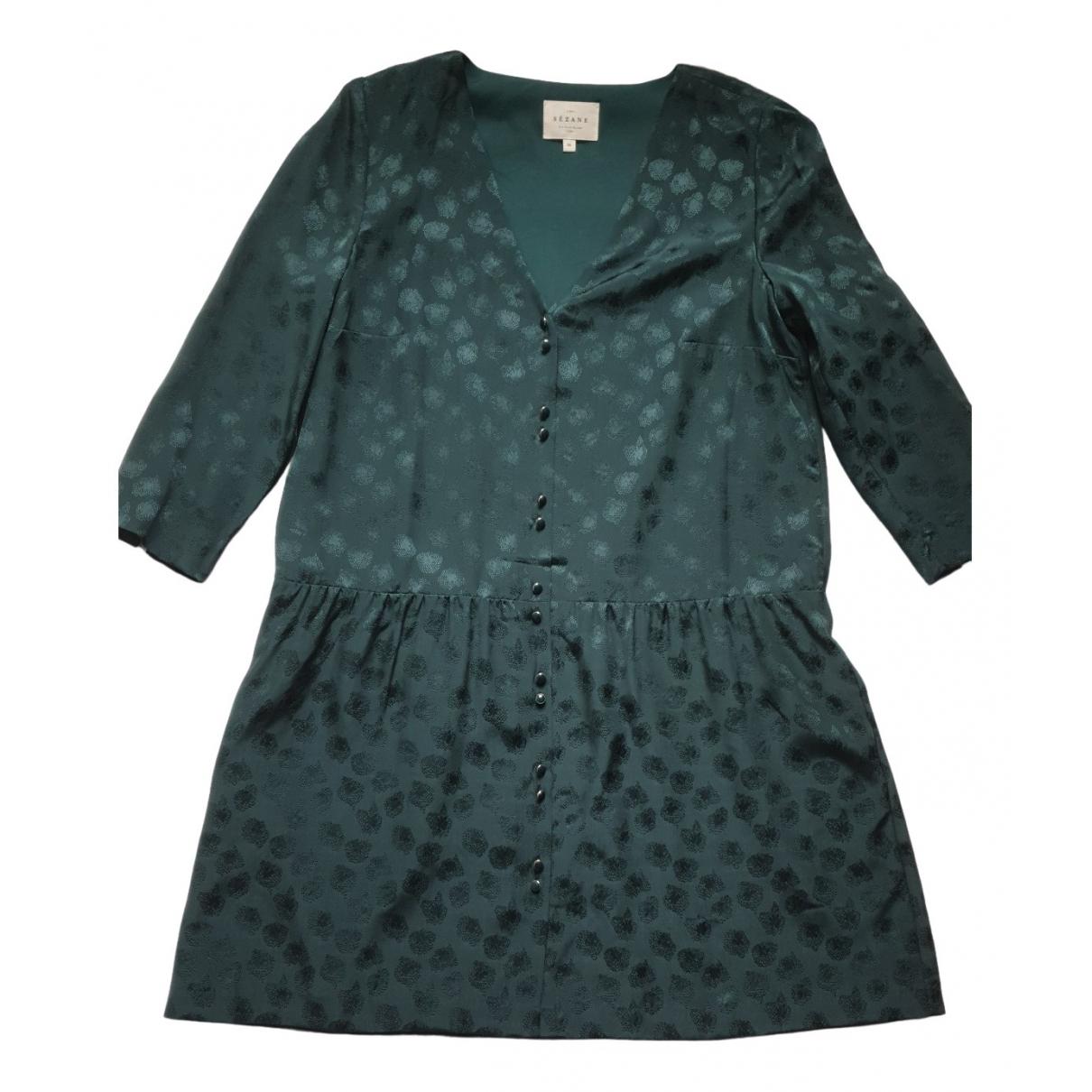 Sezane - Robe Spring Summer 2019 pour femme en soie - vert