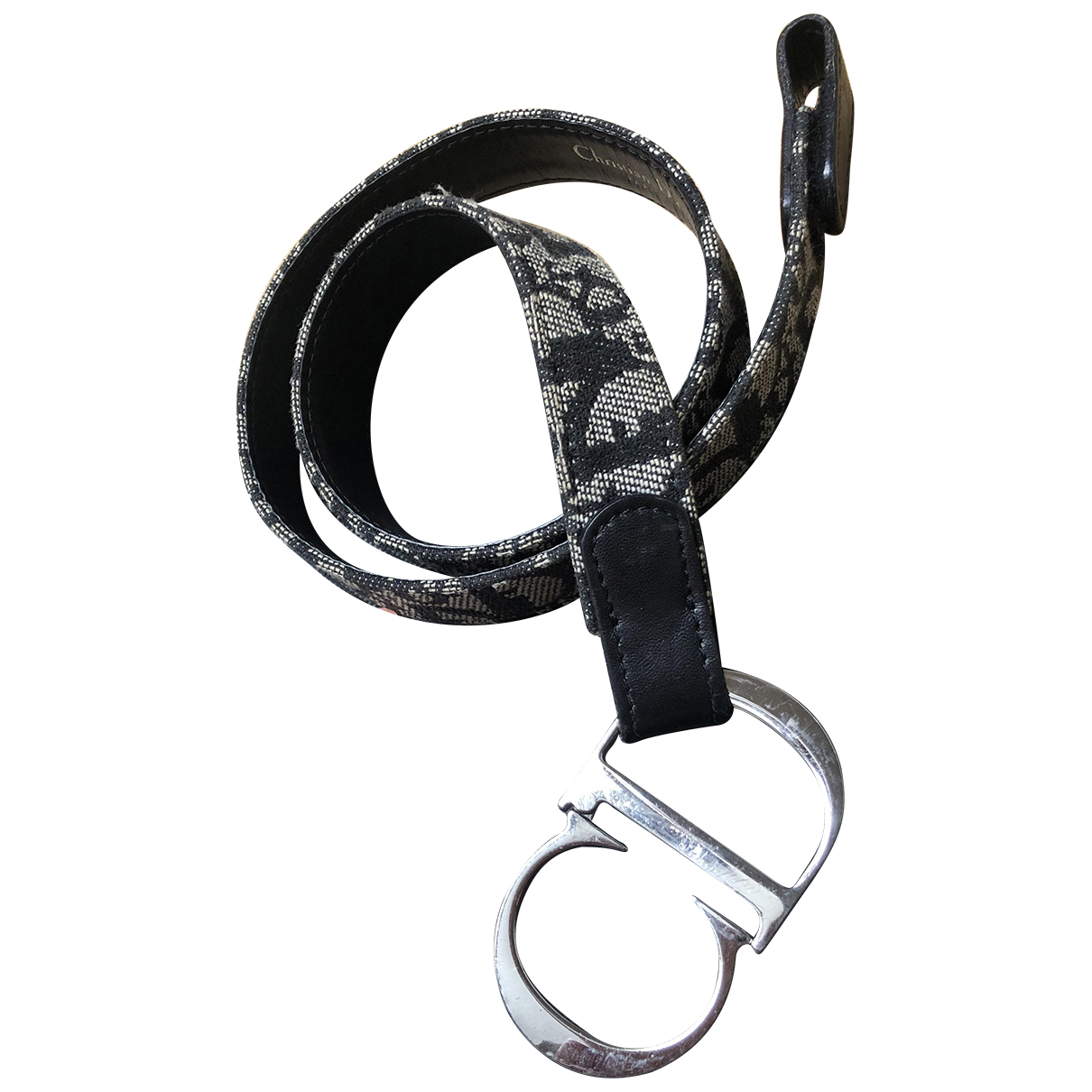 Dior \N Navy Cloth belt for Women 75 cm