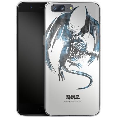OnePlus 5 Silikon Handyhuelle - Blue-Eyes White Dragon von Yu-Gi-Oh!