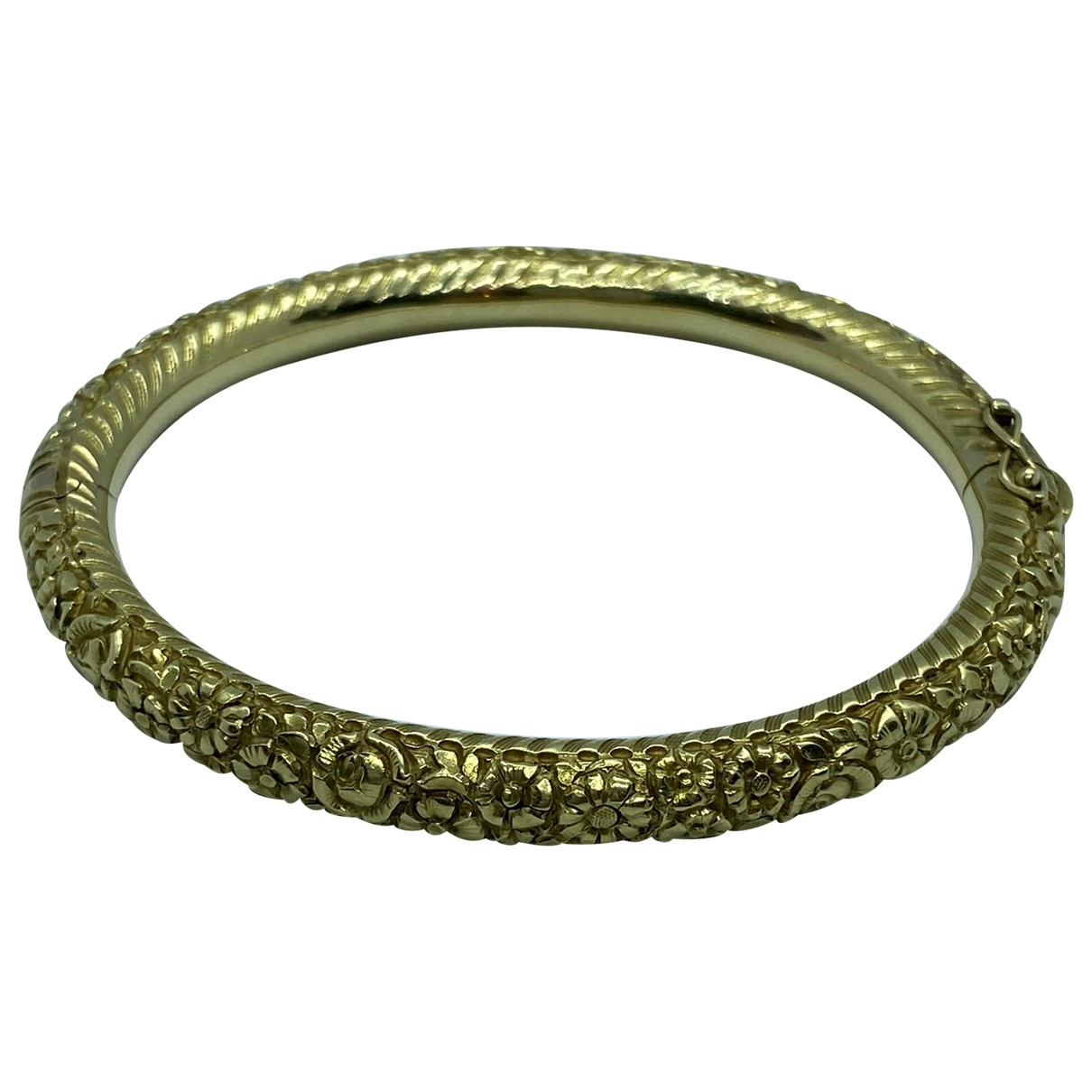 Non Signe / Unsigned Motifs Floraux Armband in  Gold Gelbgold