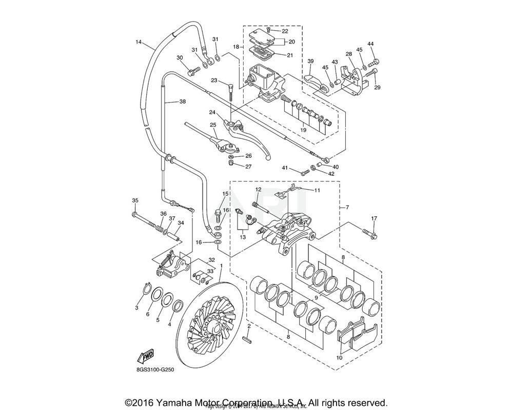 Yamaha OEM 8FN-26351-10-00 CABLE, BRAKE