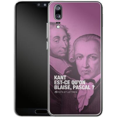 Huawei P20 Silikon Handyhuelle - Kant Blaise Et Pascal von Fists Et Lettres