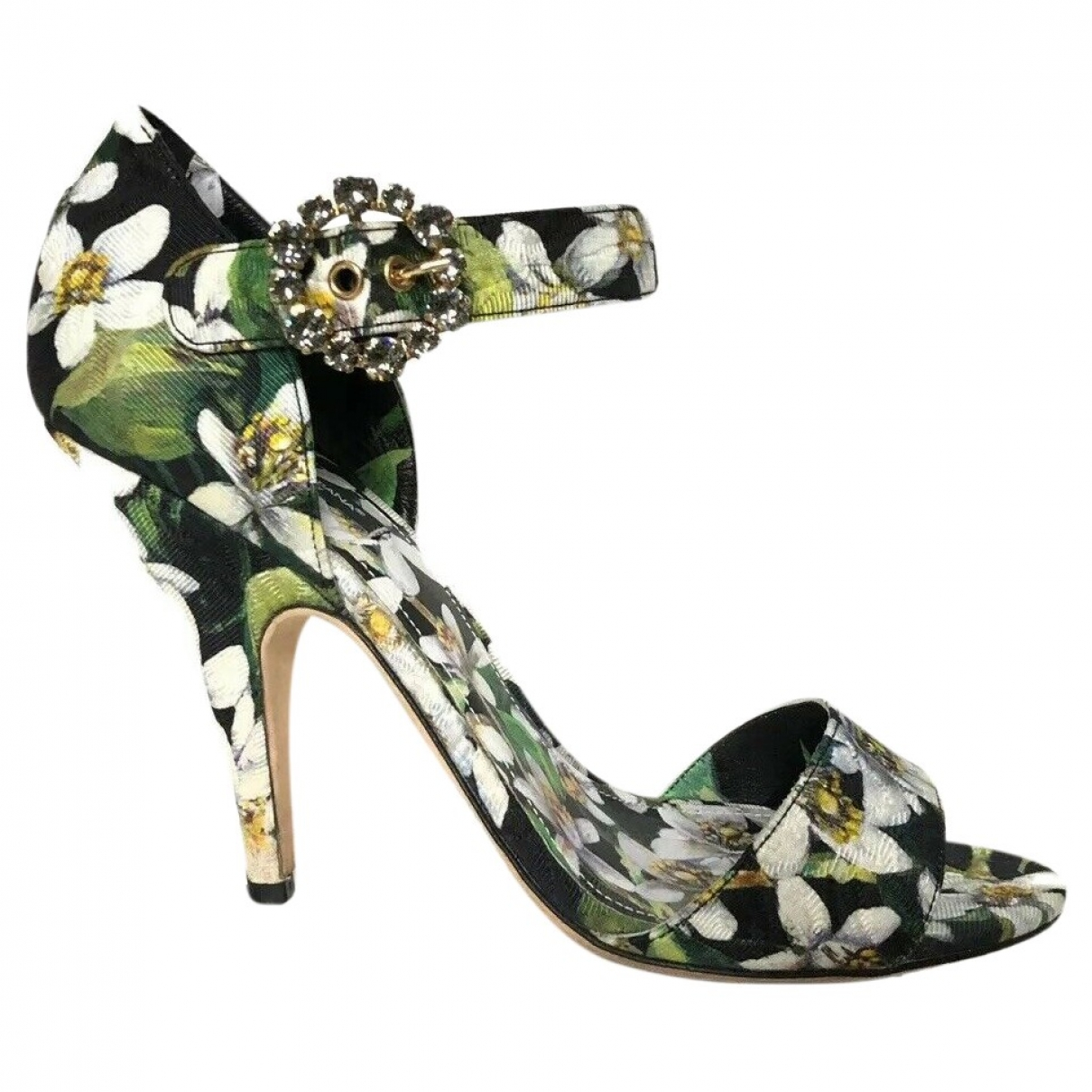 Dolce & Gabbana \N Black Cloth Sandals for Women 40 EU