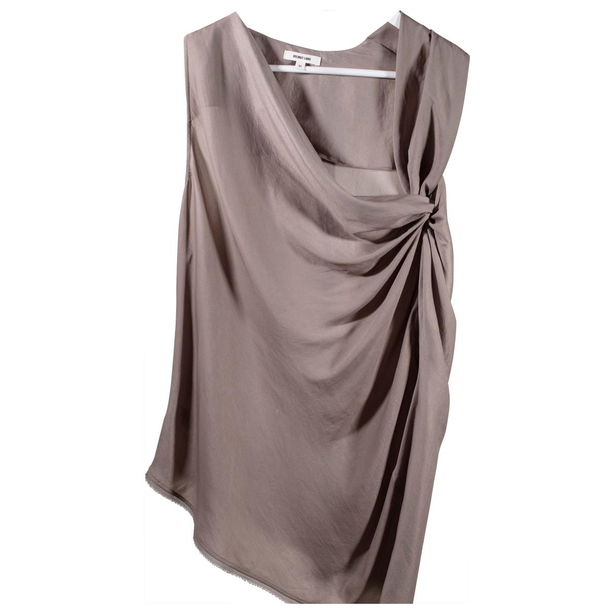 Helmut Lang - Top   pour femme en soie - beige