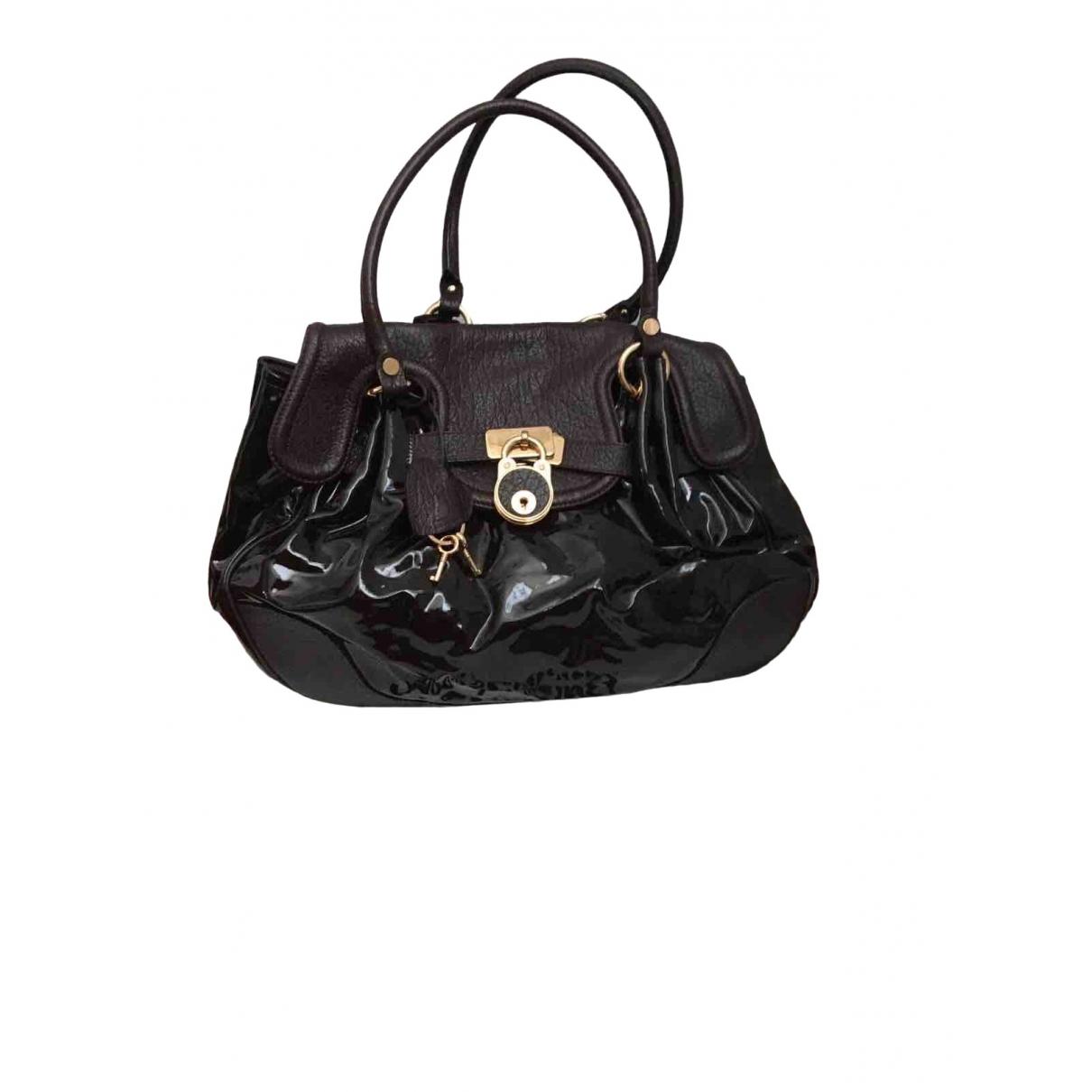 Moschino \N Handtasche in  Braun Lackleder