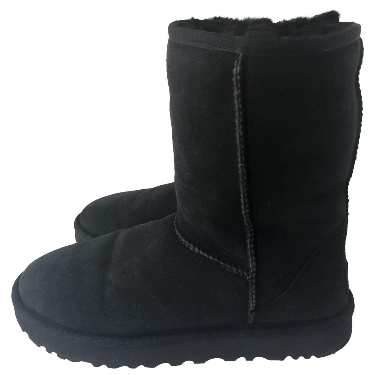 Ugg - Bottes   pour femme en mouton - noir