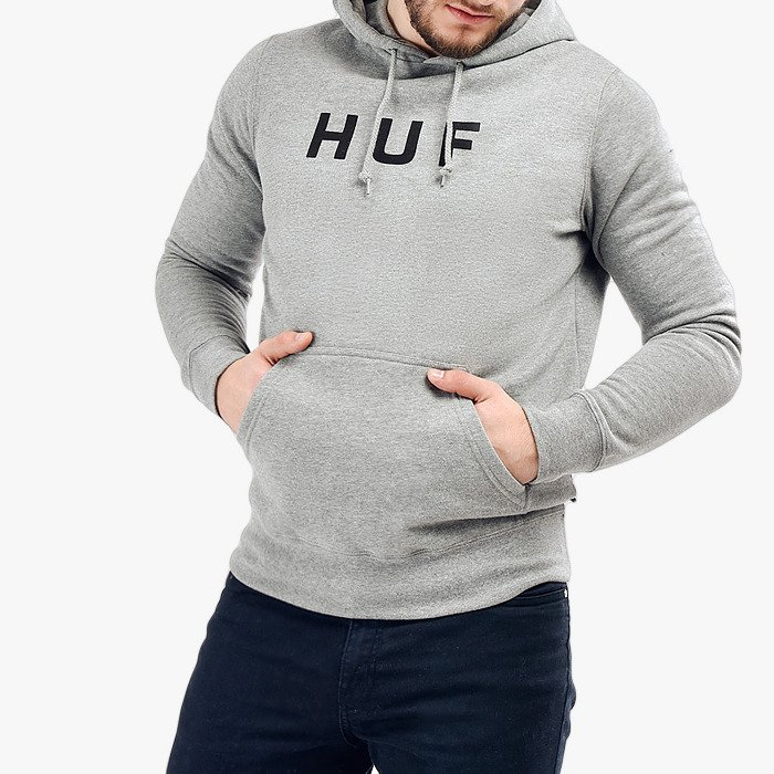 Huf Hooded OG Logo PF00099 GREY