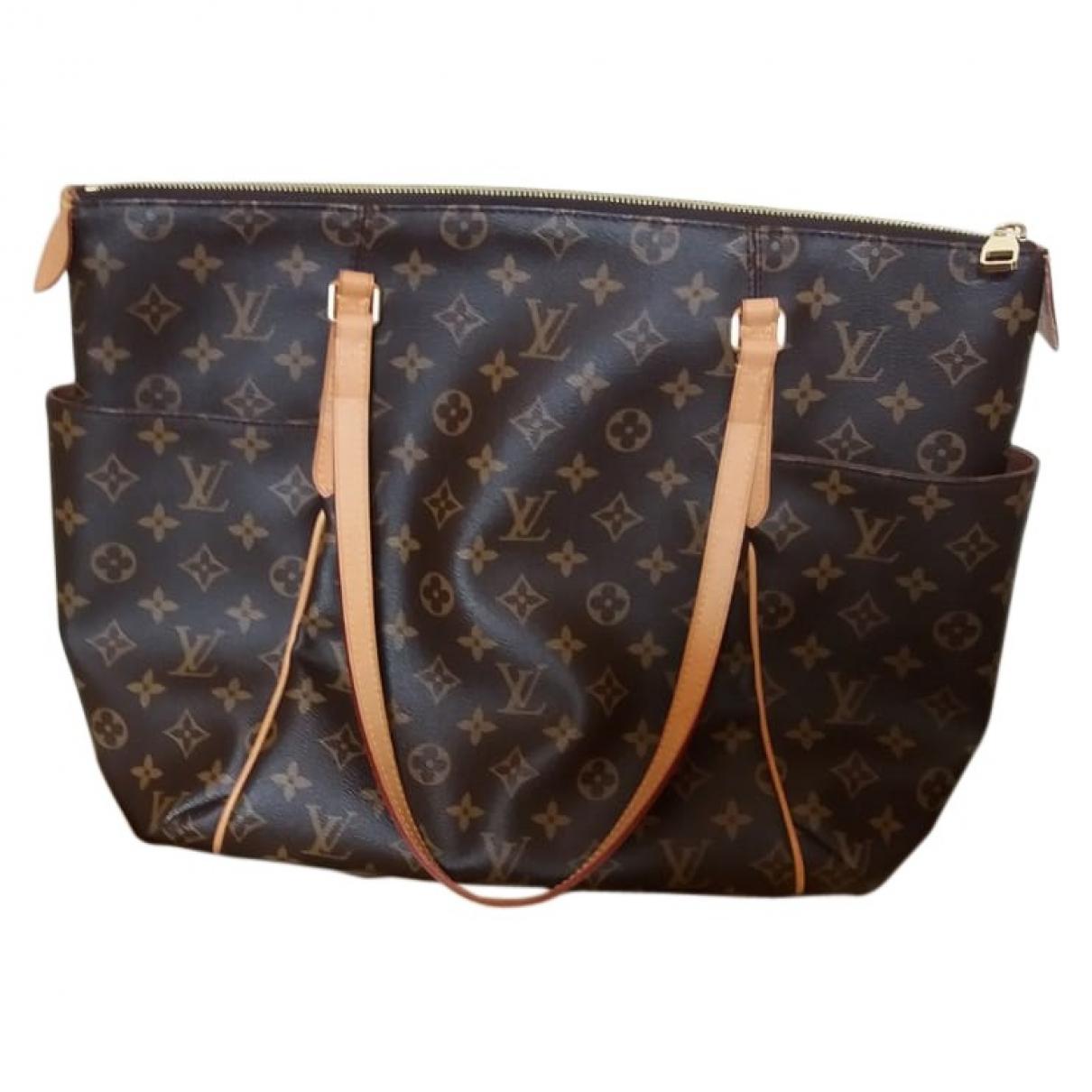 Louis Vuitton Totally Handtasche in  Braun Leinen