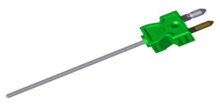 RS PRO Type K Thermocouple 500mm Length, 4.5mm Diameter → +1200°C