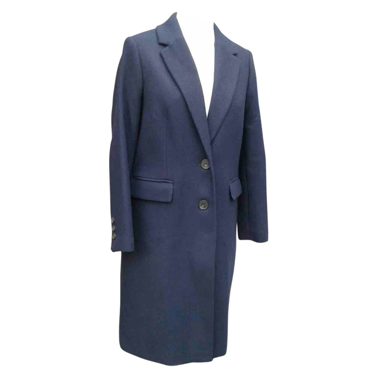 Non Signé / Unsigned \N Navy Wool coat for Women 12 UK