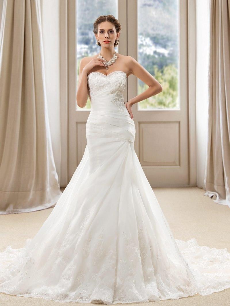 Ericdress Sweetheart Mermaid Appliques Wedding Dress