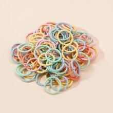 100 piezas goma de pelo de canale de niñitas