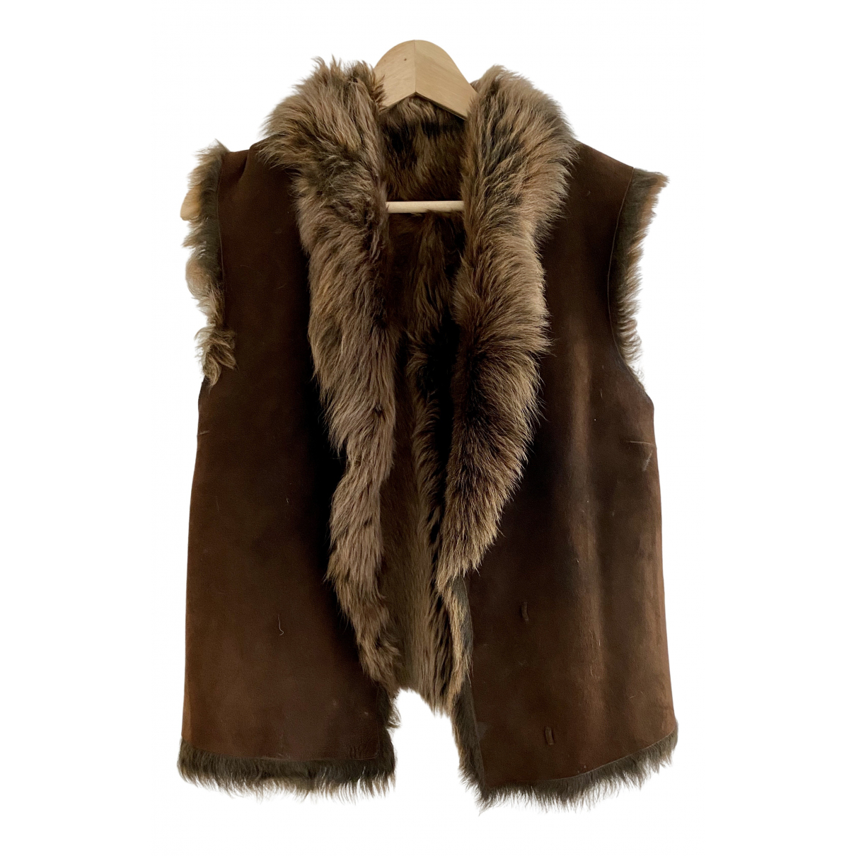Joseph \N Brown Shearling jacket for Women 36 FR