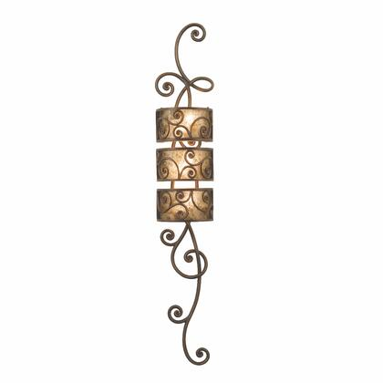 Windsor 5406AC 3-Light 3 Tier Wall Sconce in Antique Copper with Stained Champagne Mica