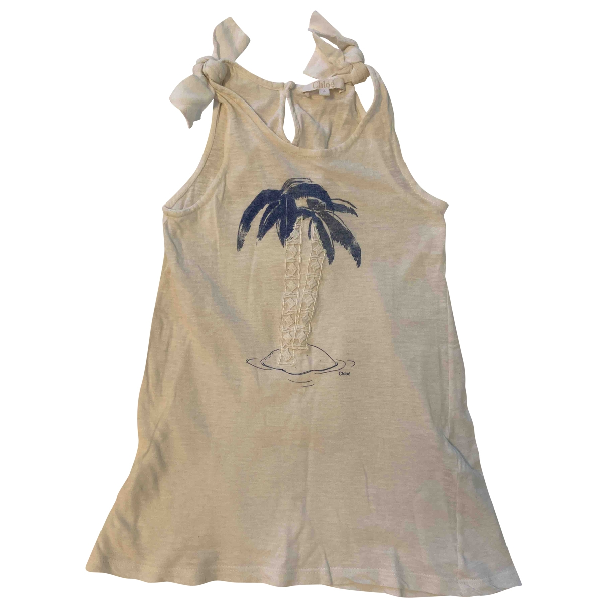 Chloe - Robe    pour enfant en coton - blanc