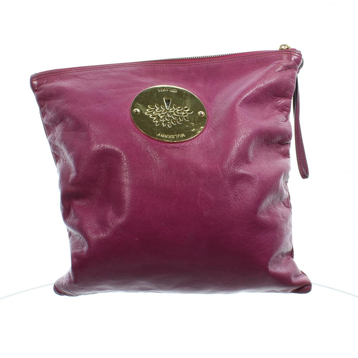 Pochette de Cuero Mulberry