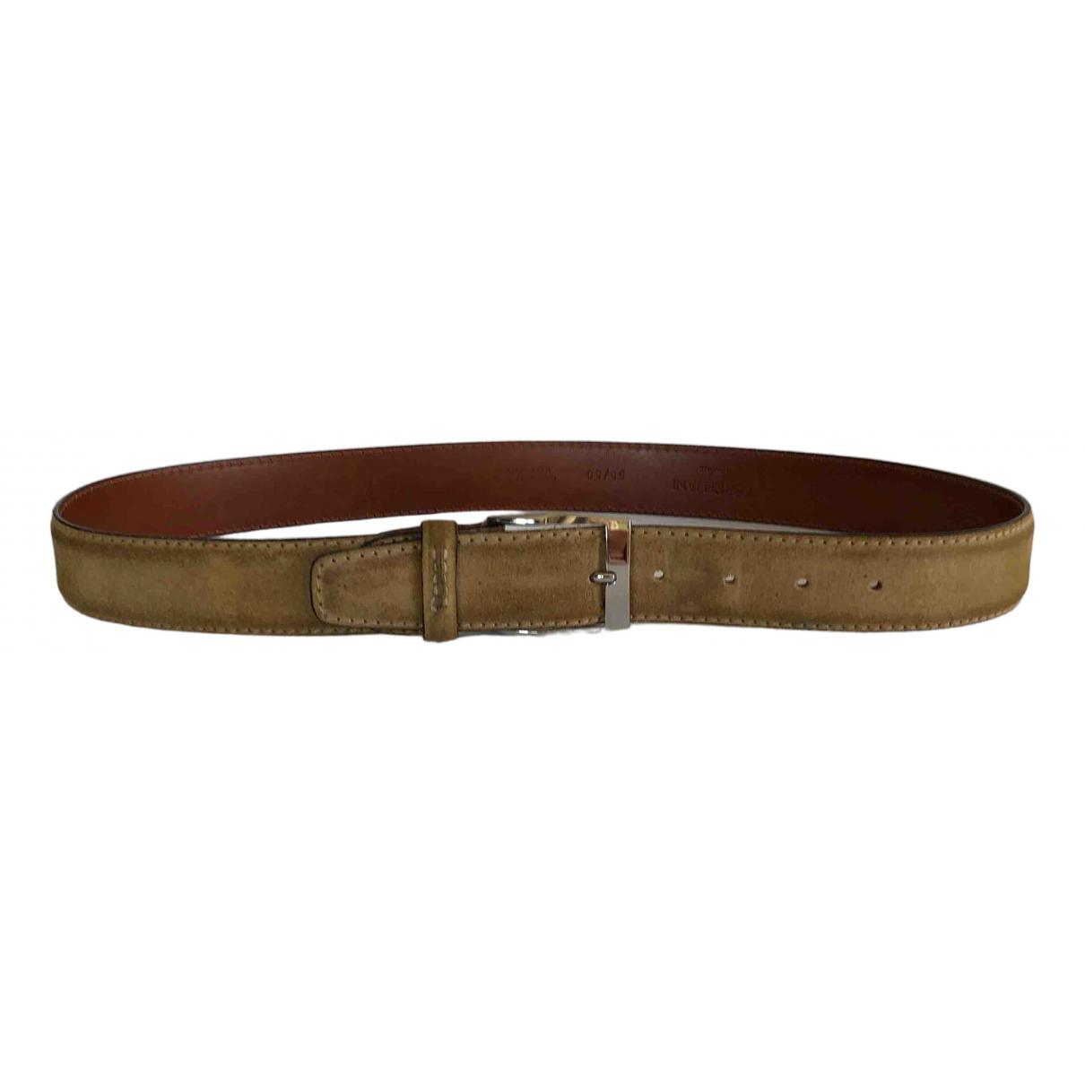 Corneliani \N Beige Leather belt for Men XL international