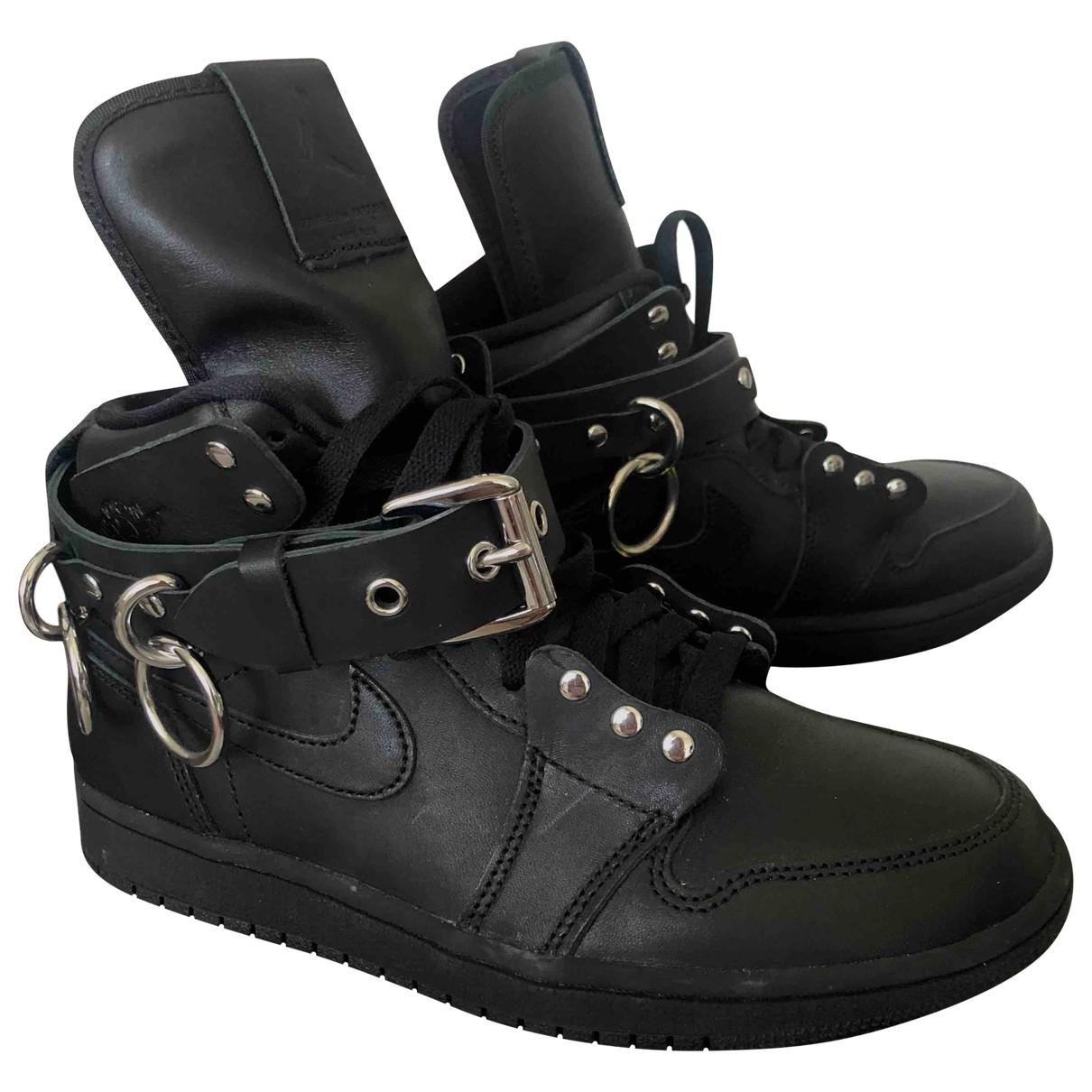 Nike X Comme Des Garcons - Baskets   pour femme en cuir - noir