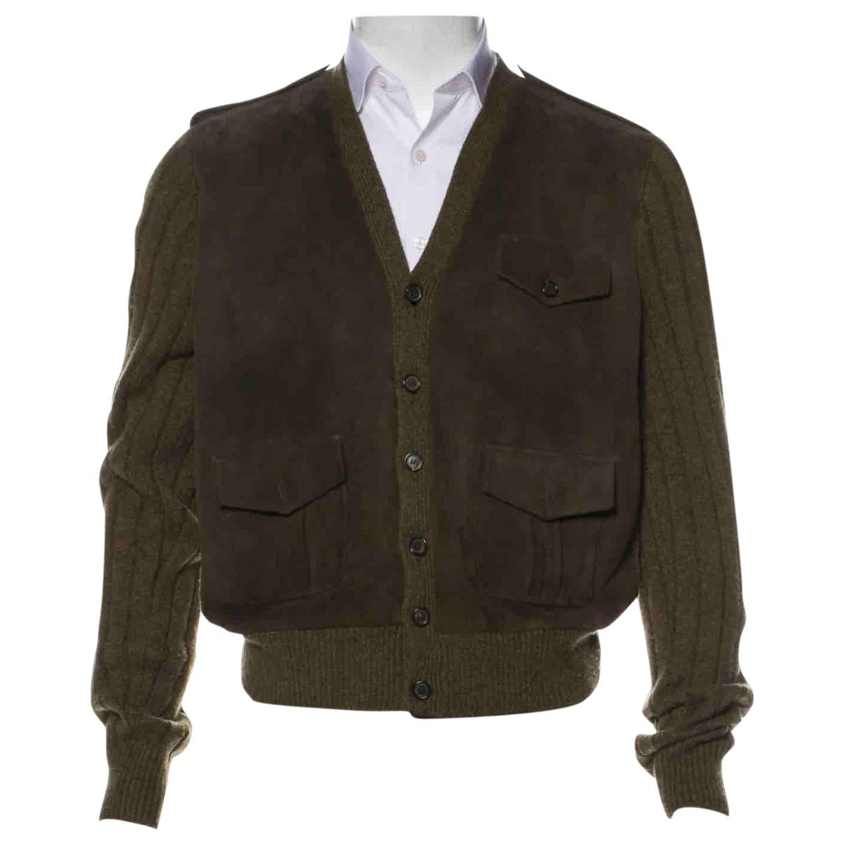 Ralph Lauren Collection \N Jacke in  Khaki Veloursleder
