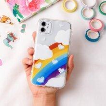 Rainbow Cloud Clear iPhone Case