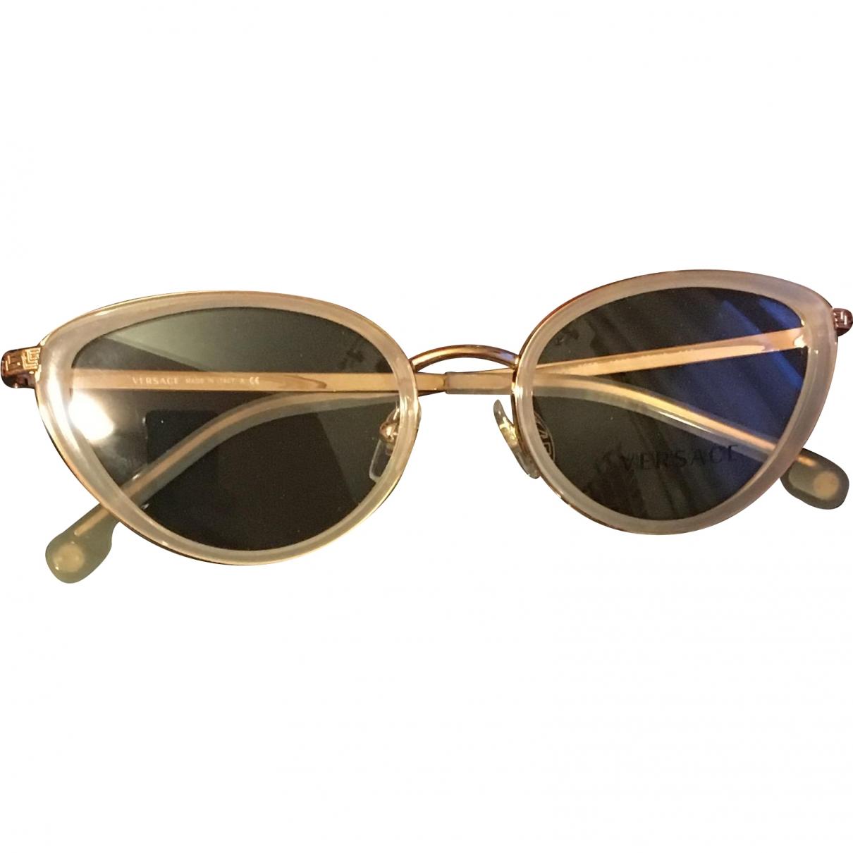 Versace \N Gold Metal Sunglasses for Women \N
