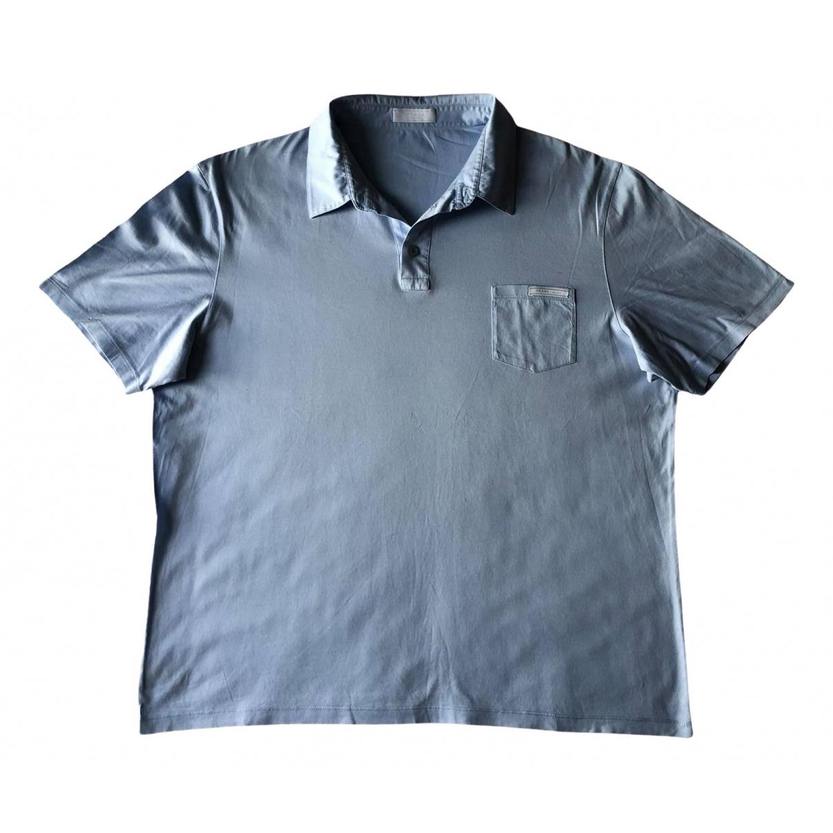 Prada - Tee shirts   pour homme en coton - bleu