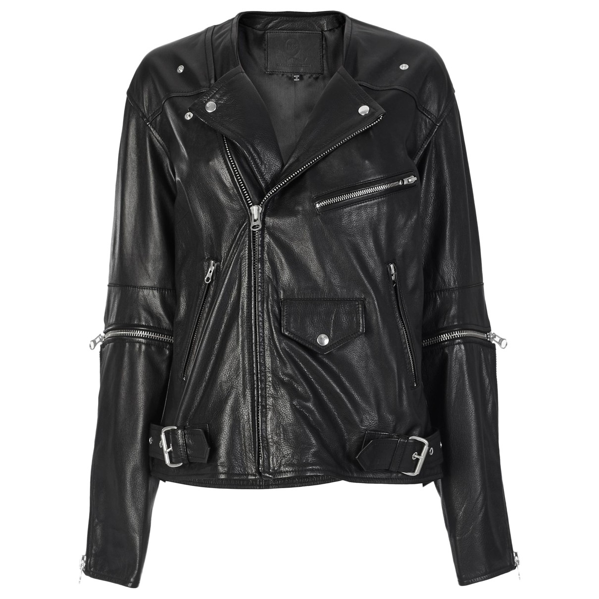 Alexander Mcqueen \N Black Leather jacket for Women 40 FR