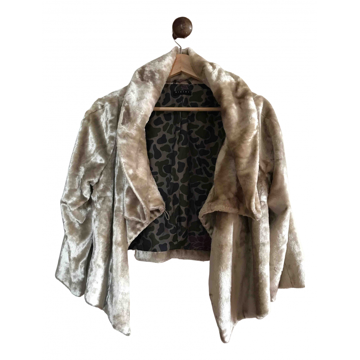 Non Signé / Unsigned N Beige jacket for Women 42 FR