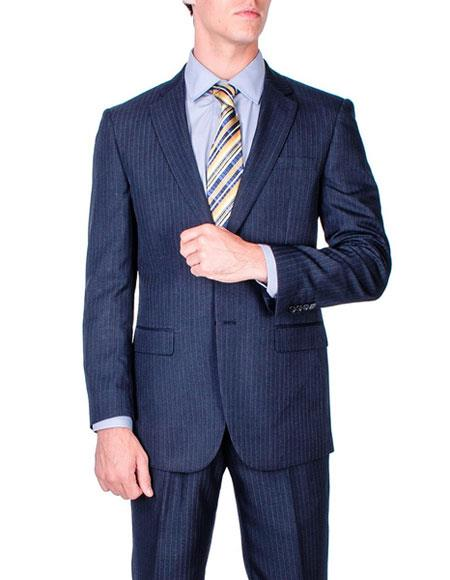 Men's Stripe Single Breasted Modern Fit Giorgio Fiorelli Brand suits