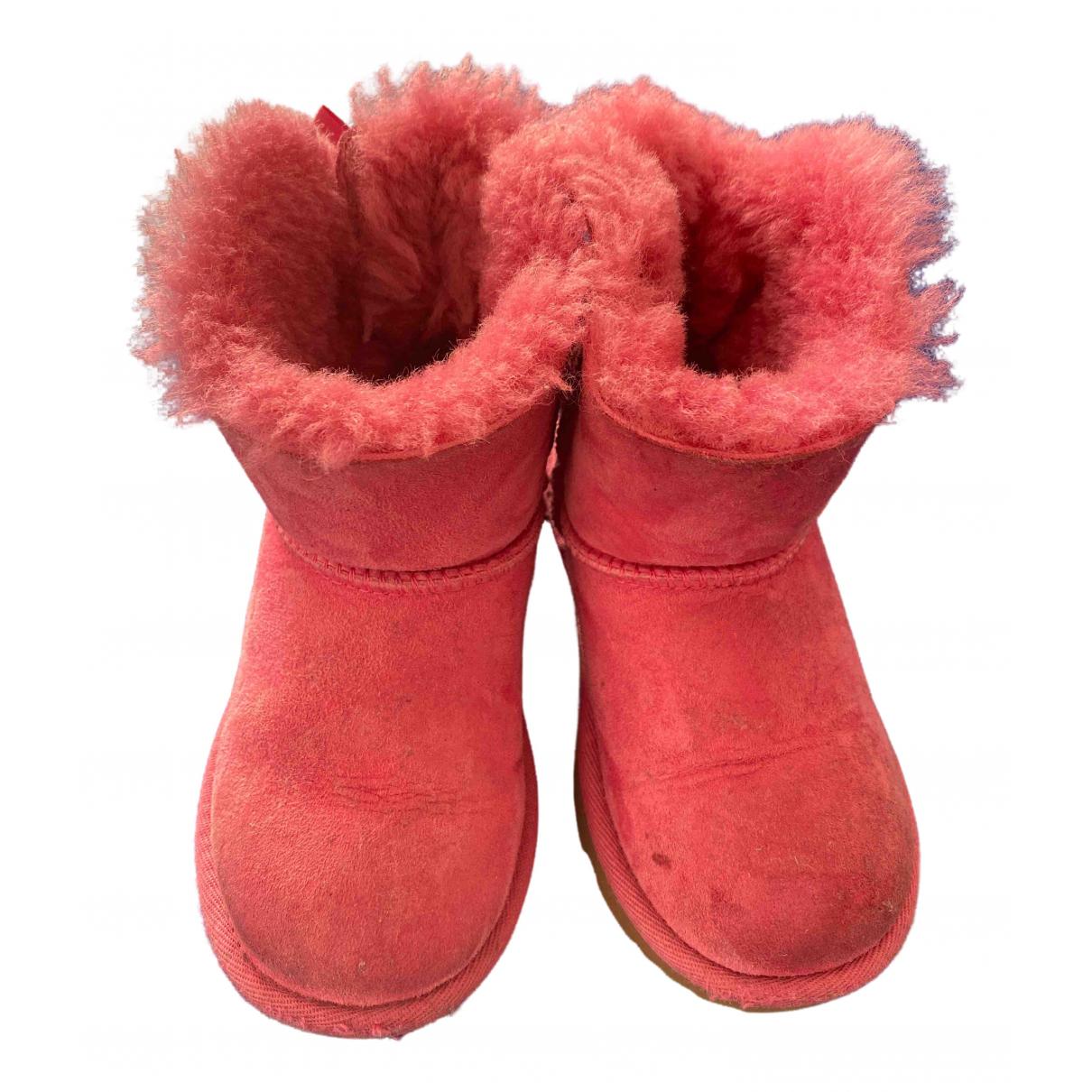Ugg N Pink Suede Boots for Kids 27 FR