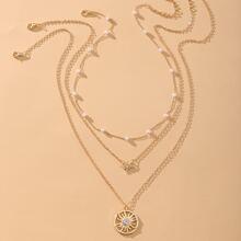 3pcs Sun Charm Necklace