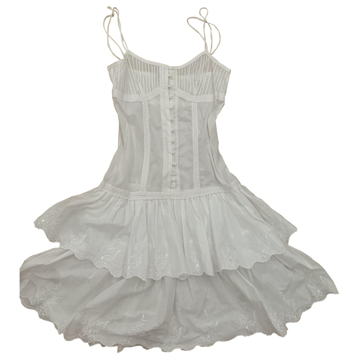 Non Signé / Unsigned \N White Cotton dress for Women 42 IT