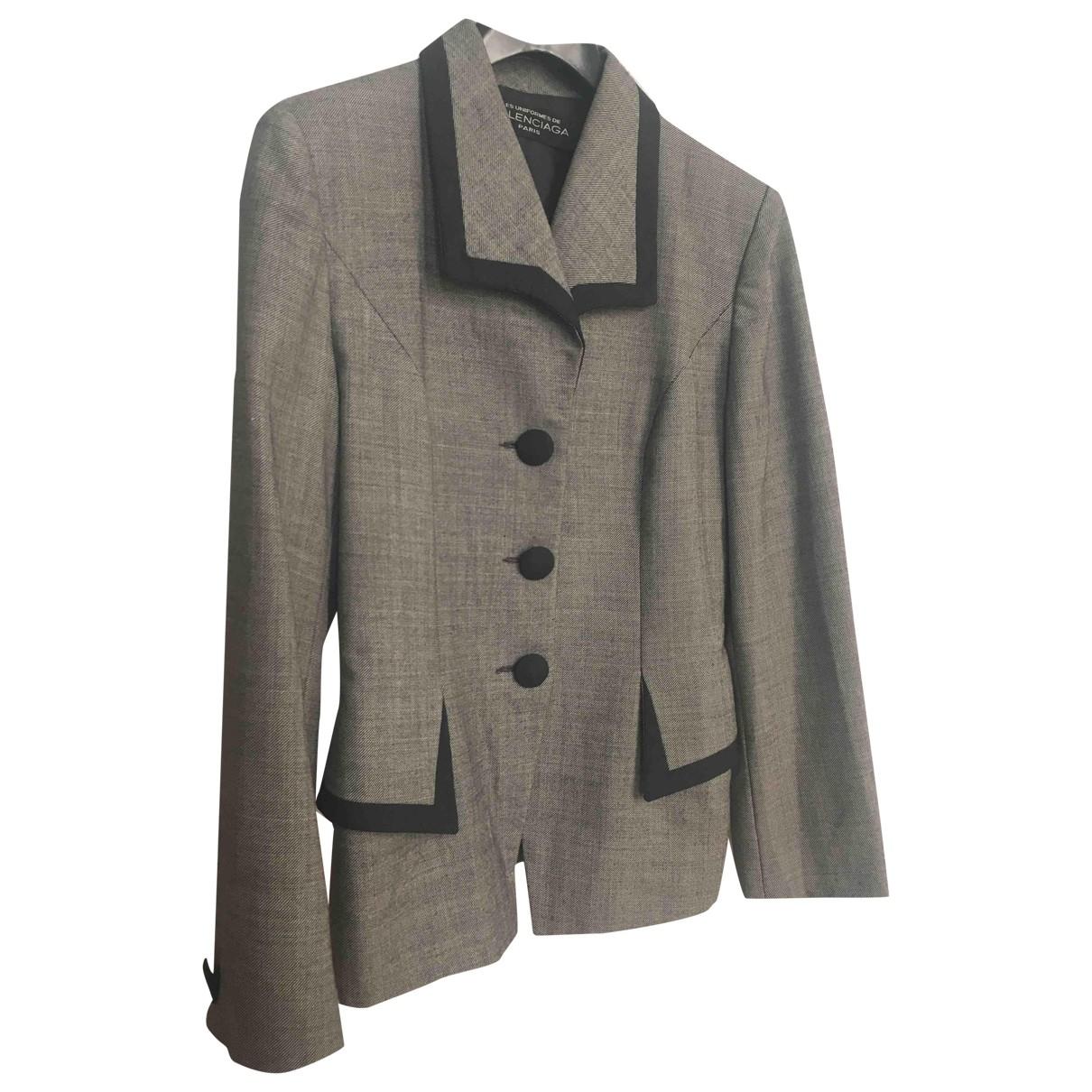 Balenciaga - Veste   pour femme en laine - gris