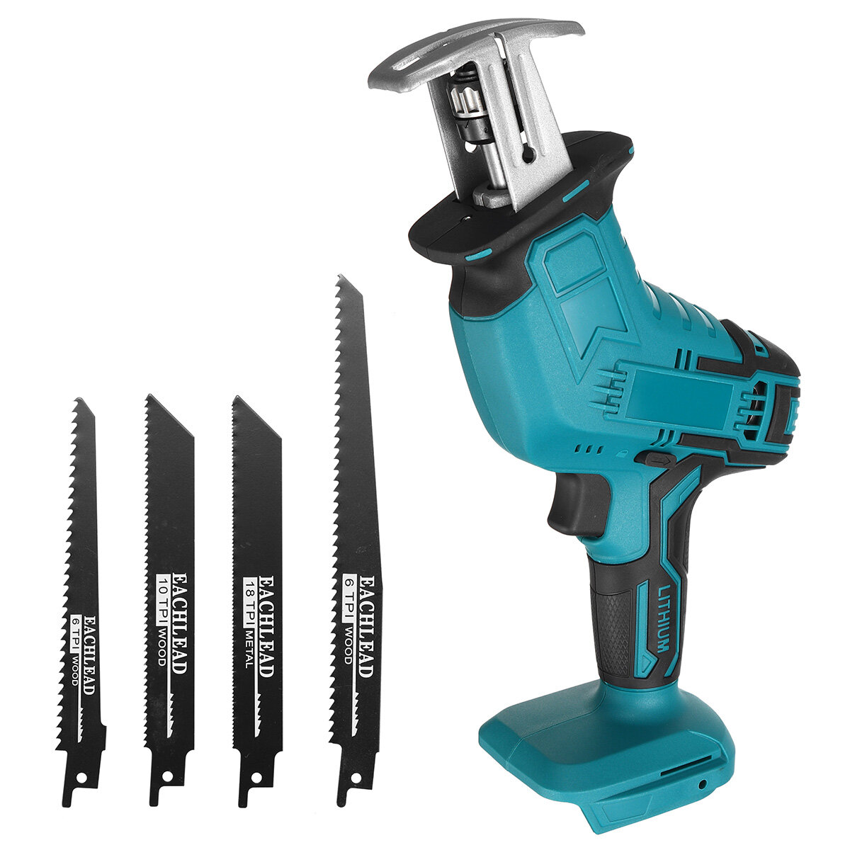 3000RPM/min Cordless Electric Reciprocating Saw Outdoor Saber Saw Kit For Makita 18V Battery 100mm/2mm (Battery not incl